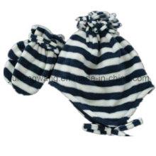 Promoção senhora tricô inverno morno polar impresso polar set