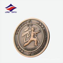 Badge rond de sport wushu union personnalisé