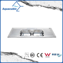 Above Counter Stainless Steel Moduled Kitchen Sink (ACS-15050D)