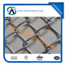 Fabrik-Verkauf PVC-überzogener Kettenglied-Gewebe-Zaun, galvanisierter Kettenglied-Zaun