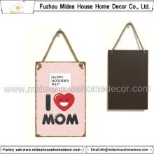 Signo de estaño Hecho en casa tapices para mamá Gife