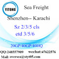 Shenzhen Port Sea Freight Shipping ke Karachi