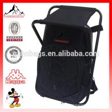 Plegable y multifuncional Bolsa de pesca taburete sentado mochila