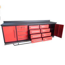 Banco de trabajo del metal de Qingdao los 10ft con los armarios de herramientas para las ventas