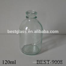 Botella de glucosa médica de vidrio transparente de 4 oz