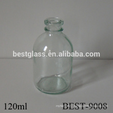 4 oz transparent glass medical glucose bottle