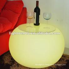 2012 nouvelle conception moderne LED table