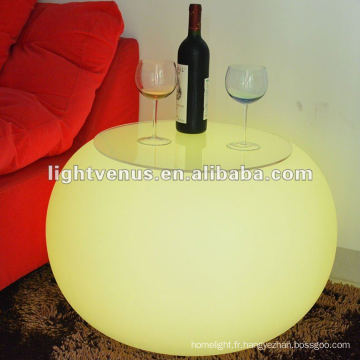 2012 nouvelle conception moderne LED table
