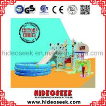 Corrediça Indoor plástica Eco-Friendly e balanço com poço da esfera