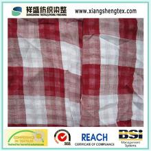 35s * 35s Tejido suave del algodón de la tela escocesa para la camisa
