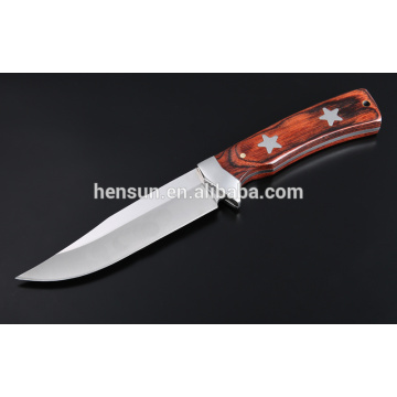Brown Pakka Wood Star Pattern Jagdmesser