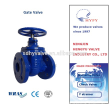 BS Non Rising Stem gate valve pn16 with handles or stem nut
