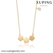 44017 mode en gros chine femmes accessoires collier délicat unique petit zircon blanc pierre plaqué or bijoux collier