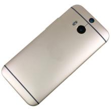 Carcasa de teléfono móvil / celular para HTC One M8 Cubierta de batería Negro Oro blanco