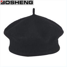 Traditional Black Wool Tami Beret Cap Hat, Men′s Wool Beret