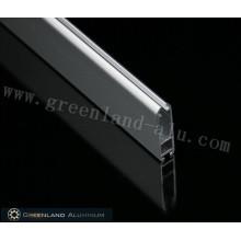 Oblate Grey Matt Aluminum Bottom Track
