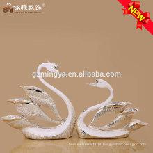 design realista de alta qualidade casamento lembrança ornamento de cisne