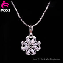 Fancy Style Flower Design Zircon Pendant Charms