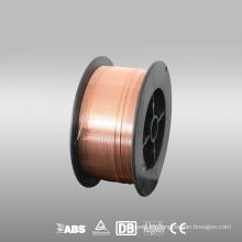 Alta calidad co2 gas blindado alambre de soldadura er70s-6 carrete de plástico