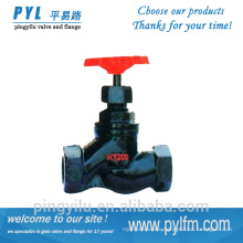 Thread connection grey iron globe control valve steam globe valve drawing