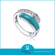 Vogue Turquoise Silver Ring Jewellery Vogue (R-0516)