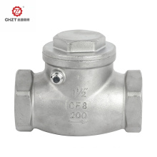 Swing check valve for water