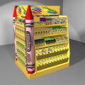 POS Marketing de supermercado Cuatro lados Lápiz completo Pluma de cartón Display