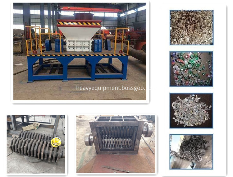 Plastic Waste Wood Pallet Shredder Machine For Sale