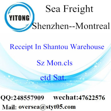 Shenzhen Port LCL Consolidation naar Montreal