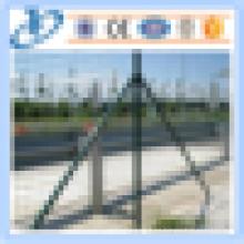 Malla de alambre soldada de PVC con revestimiento de PVC utilizada para Euro Fence