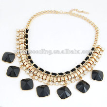High quality stone chunky bubblegum necklace
