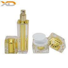 Wholesale square cosmetics cream glass  acrylic bottles and jars