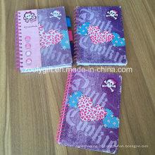 Impressão Hard Cover Soft Spiral A5 Exercício Notebooks Divisores