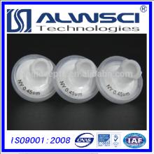 13mm Welded 0.45mm pore Syringe Filters