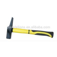 Alta calidad martillo, martillo del maquinista con medio mango de recubrimiento de plástico