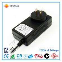 ZF120-1204160 12V 4.16A Fonte de alimentação UL1310 Switching Power Adapter