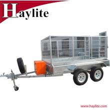 New model 8x5 heavy duty semi dump box trailer double axle