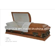 Style américain de placage chêne cercueil (V5050006)