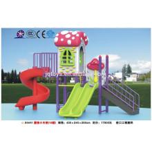 B0695 mobiliario de jardín de infancia Hotsale niños al aire libre seta de plástico Parque de juegos Conjunto de niños parque de plástico de toboganes parque