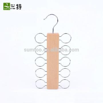 luxury wooden tie belt hangers