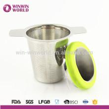 Filtre à thé en acier inoxydable de cadeau de Noël pour la feuille lâche et le thé de tisane Brew dans des crépines de tasse pour la tasse de théière