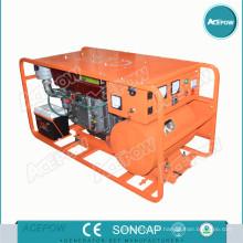 Générateur triphasé monophasé de 5 à 25kVA avec roues