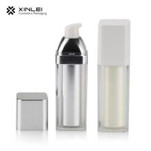 Пластиковая прямоугольная бутылка для лосьона на 100 мл с помпой