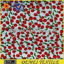 cheap wholesale fabric cherry print roll pattern
