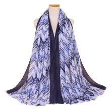 Fábrica de primavera y verano algodón largo abrigo hijab bufanda mujeres