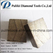 Diamante de talla grande dientes corte segmento de corte de piedra abrasiva