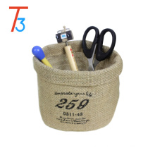 Eco-friend Cotton Blend Linen Small Stationery Storage bag Home Decor Bathroom Car Accessories