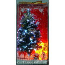 Iluminação brilhando Árvores de Natal de fibra óptica LED colorido