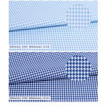 Alta costura houndstooth 100% algodão camisa de tecido textil para homens