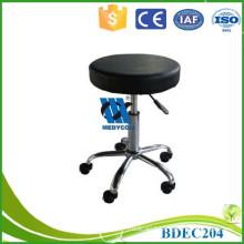 Gas spring height adjustable nurse stool